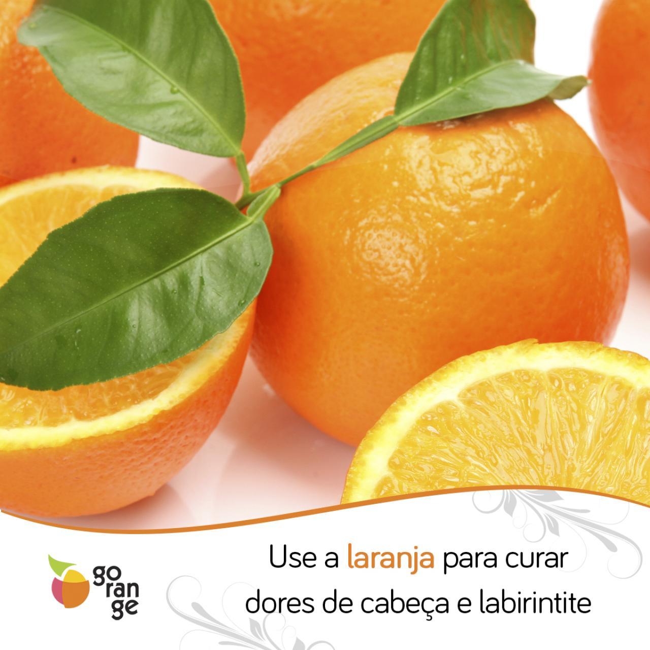 Use a laranja para curar enxaqueca e labirintite