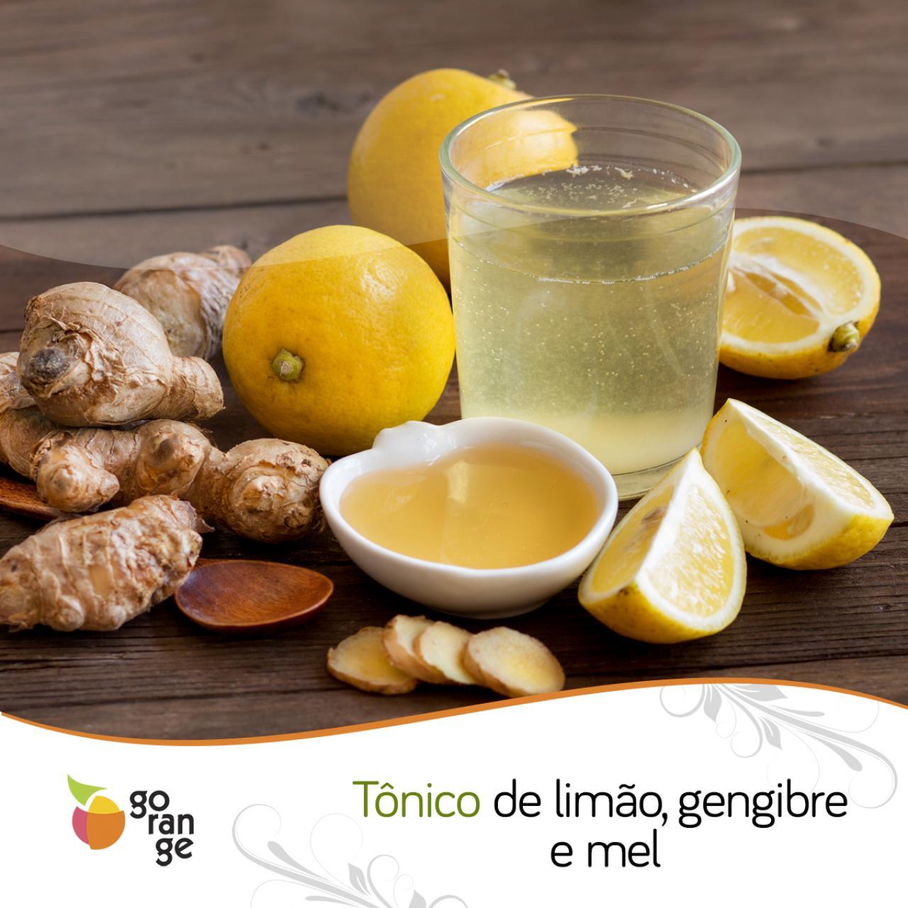 Tônico de limão, gengibre e mel