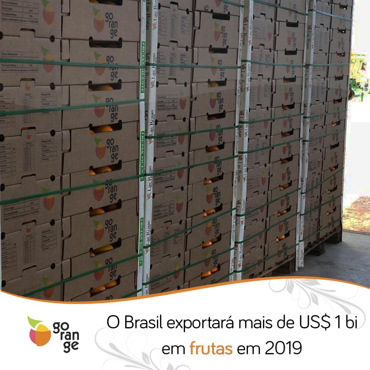 O Brasil exportará mais de US$ 1 bi em frutas em 2019