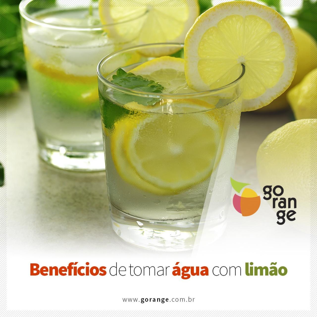 Benefícios de tomar água com limão