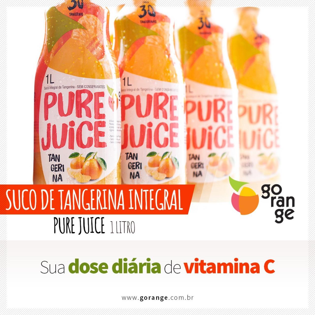 Pure juice Tangerina - Sua dose Diária de Vitamina C