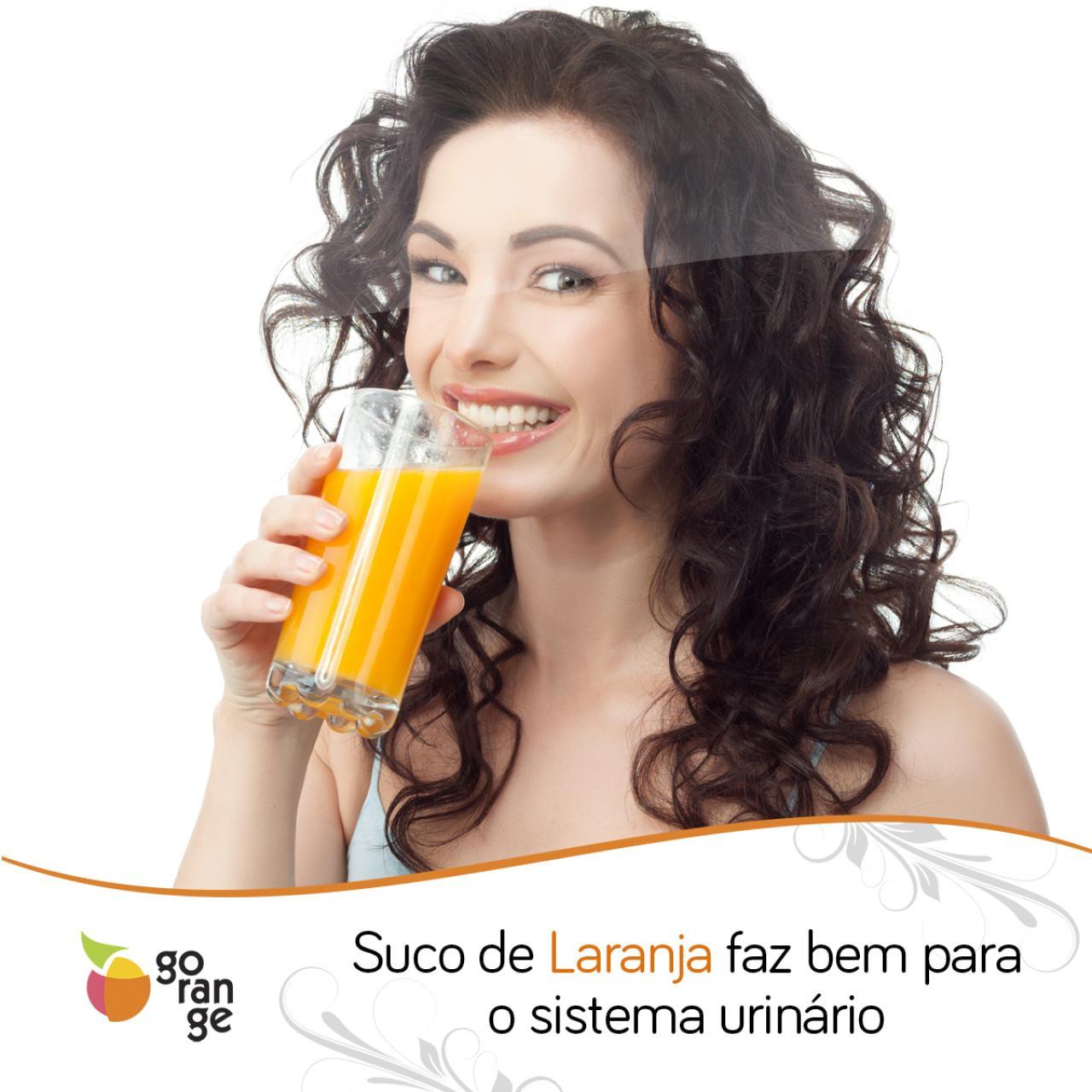 Suco de laranja faz bem para o sistema urinário