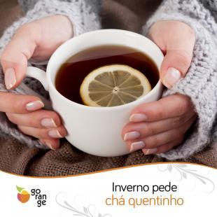 Inverno pede chá quentinho